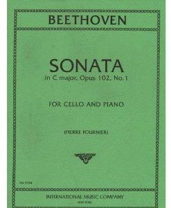 Beethoven Ludwig Sonata No4 in C Major Op. 102 No1 for Cello and Piano - by Fournier International